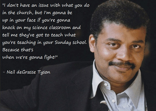 Neil Degrasse Tyson fights for science.